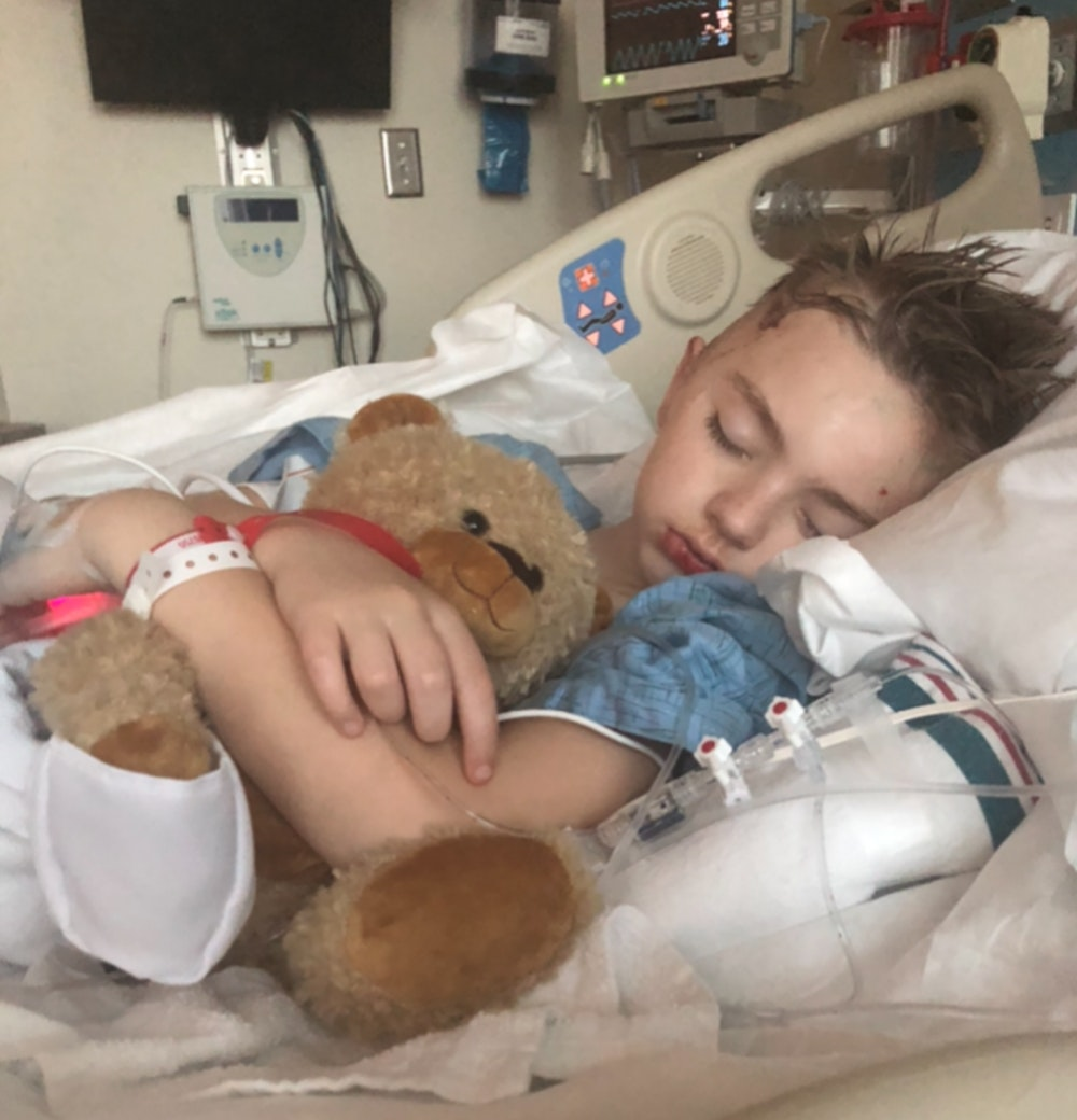 Semmes Murphey Patient Landon in Recovery