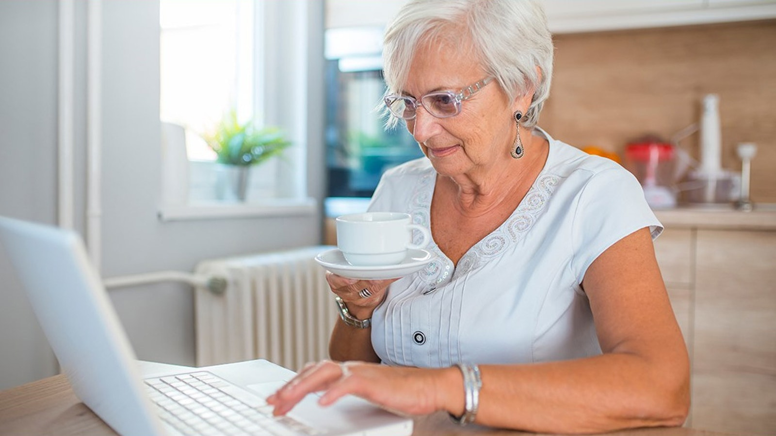 Mature woman on computer